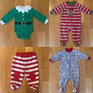 Bundle Lot of Baby Boy First Christmas Clothes